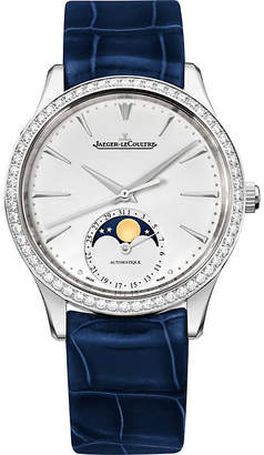 Jaeger-LeCoultre Q1258401 Master Ultra Thin Moon diamond, stainless steel and alligator leather watch