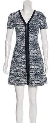 Tory Burch V-Neck Short Sleeve Mini Dress