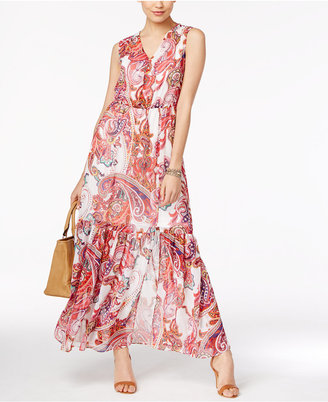 ECI Paisley-Print Chiffon Maxi Dress $70 thestylecure.com