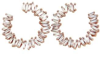 Suzanne Kalan Spiral Circle Earrings - Rose Gold