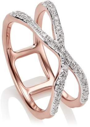 Monica Vinader Riva Wave Cross Ring