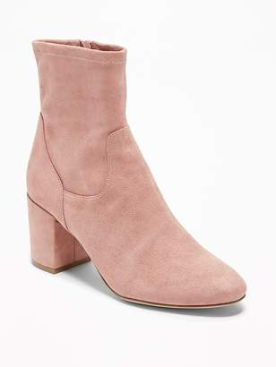 Old Navy Faux-Suede Slim-Calf Block-Heel Boots