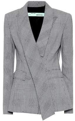 Off-White Checked wool blazer