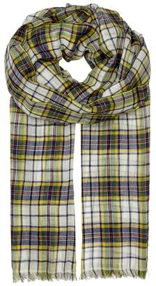 Etoile Isabel Marant Woody Checked Wool Scarf