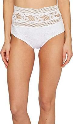 Becca by Rebecca Virtue Women's Captured High Waist Bikini Bottom L