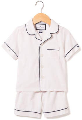 Petite Plume Classic Pajama Set w/ Contrast Piping, Size 6M-14