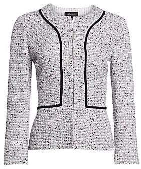 St. John Women's Alca Three-Quarter Tweed Jacket