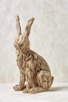 Next Wood Effect Rabbit Sculpture