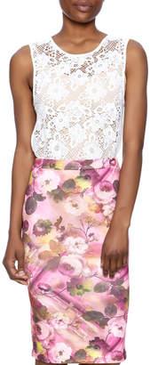 Angela Lace Tunic Top