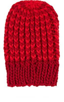 Wommelsdorff Women's Bella Striped Chunky Wool Beanie - Red