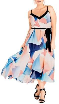 City Chic Angles Maxi Dress