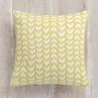 Flower Fields - Leafy Vines Square Pillow