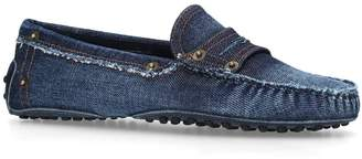 Tod's Denim Gommino Penny Loafers