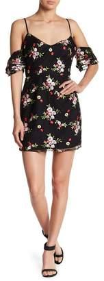 BB Dakota RSVP BY Bellana Cold Shoulder Floral Print Dress