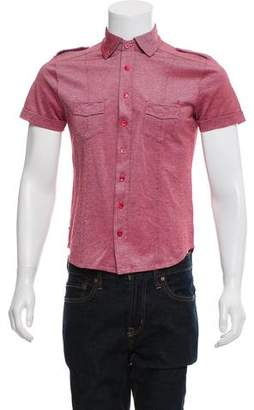 Gucci Short Sleeve Button-Up Top