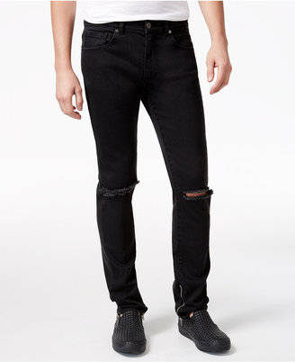 Reason Men's Unisex Knee Slit Slim-Fit Jeans $78 thestylecure.com