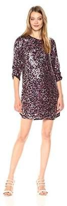 Parker Women's Petra 3/4 Sleeve Beaded Mini Dress