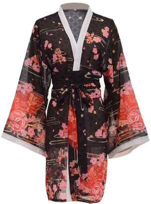 96b1528942f23 GRACEART Women's Sakura Kimono Yukata Bathrobe with Waistbelt