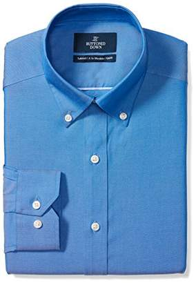 """Buttoned Down Men's Tailored Fit non-iron shirt with button-down collar,19.5 """"Neck 39"""" sleeve"""