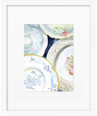 Vintage Plates Framed Giclee Print, Artfully Walls