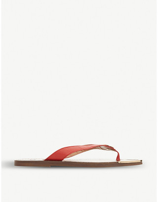 Dune Lagoons slip-on leather sandals