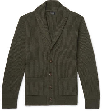 J.Crew Slim-Fit Shawl-Collar Wool-Blend Cardigan - Dark green