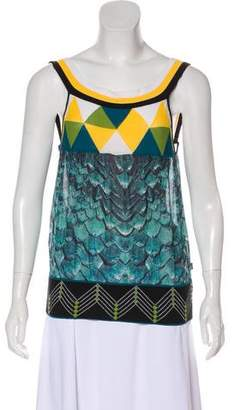 Just Cavalli Sleeveless Silk Top