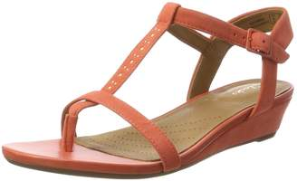 Clarks Women's Parram Blanc Wedge Heels Sandals