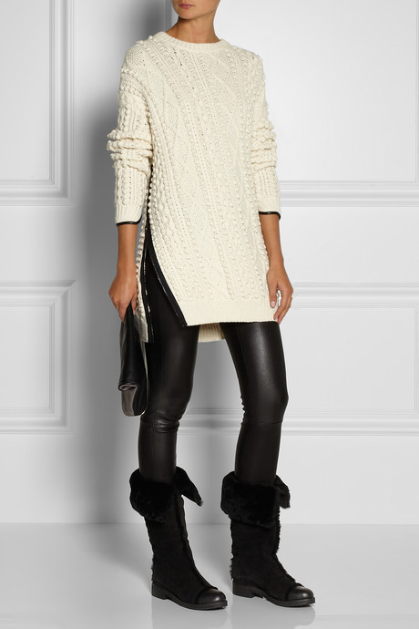 See by Chloe Shearling-lined suede boots