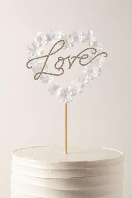 May Contain Glitter Love Heart Cake Topper