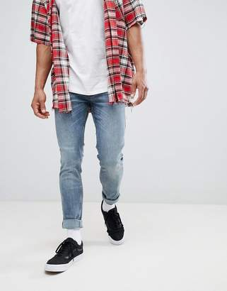 Just Junkies Super Skinny Faded Washed Jeans