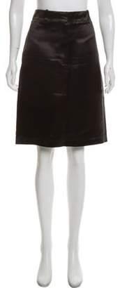 Calvin Klein Satin Knee-Length Skirt Black Satin Knee-Length Skirt