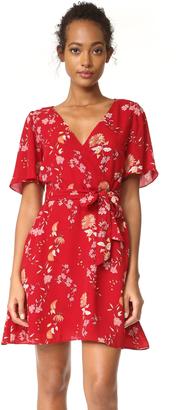 BB Dakota Laselle Cherry Blossom Printed Wrap Dress $90 thestylecure.com