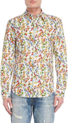 Desigual Printed Slim Fit Sport Shirt