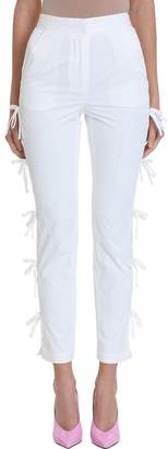 Self-Portrait Self Portrait White Taffeta Bow Trouser