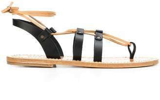 Solange Sandals multi-strap ankle tie sandals
