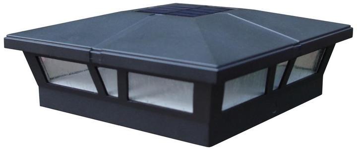 Cambridge SilversmithsCambridge Black Integrated LED Solar Post Deck Cap 6x6 Aluminum Cambridge (2 Pack)