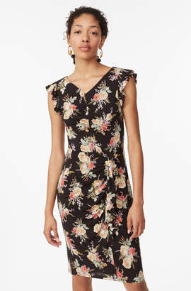 Rebecca Taylor Bouquet Floral Jersey Dress