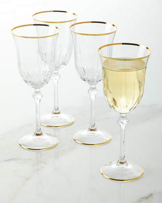 Wine Goblets with Golden Finish, Set of 4