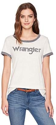 Wrangler Women's Short Sleeve Ringer Tee Shirt