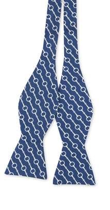 J.Mclaughlin Italian Silk Bow Tie In Horsebit