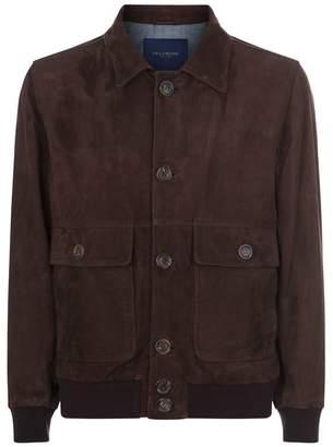 Paul & Shark Aqua Leather Jacket