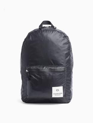 Calvin Klein nylon zip backpack