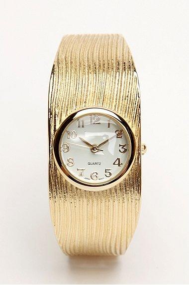 Gold Cuff Watch