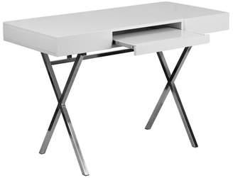 Flash Furniture Keyboard Tray and Drawers Writing Desk