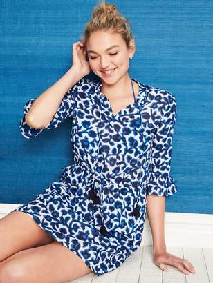 Draper James Indigo Vine Beach Cover Up