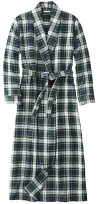 L.L. Bean L.L.Bean Women's Scotch Plaid Flannel Robe