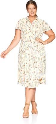 1a423e26cc134 Tahari by Arthur S. Levine Women's Plus Size Georgette Shirt Dress