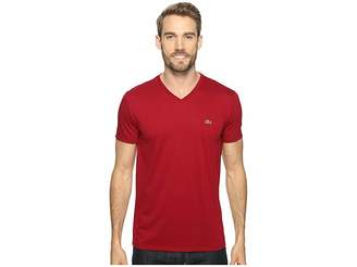 Lacoste Short Sleeve Pima Jersey V-Neck T-Shirt