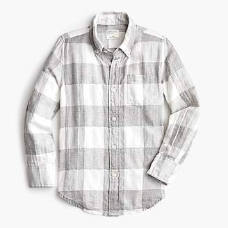 at J.Crew · J.Crew Boys  plaid button-down in crinkle cotton d09be9d8d